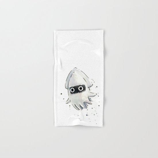 Blooper Squid Mario Watercolor Geek Art Hand & Bath Towel