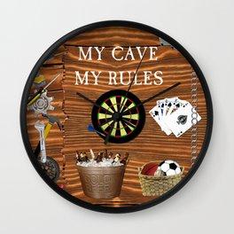 Man Cave Wall Clock