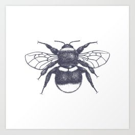 Sketched Bumblee Art Print