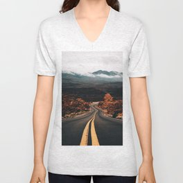 Road to Valley of Fire Unisex V-Neck