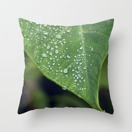 Misty Leaf Throw Pillow