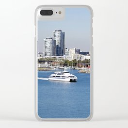 Shoreline Village in Long Beach, California Clear iPhone Case