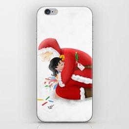 A warm hug from Santa iPhone Skin