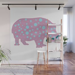 Hipster Hippo Wall Mural