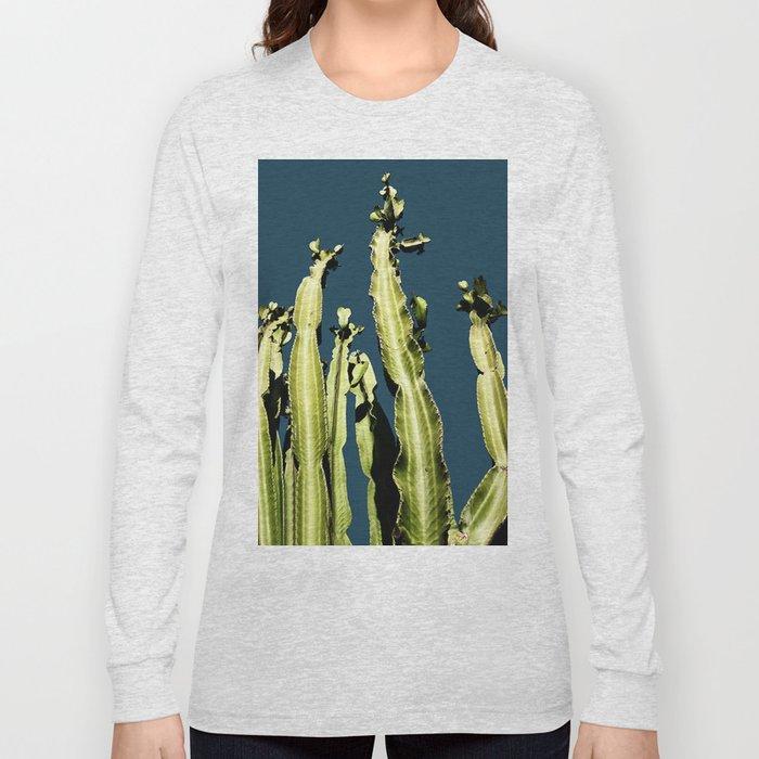 Cactus - blue Long Sleeve T-shirt