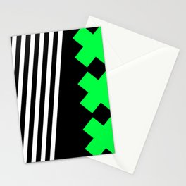 Bold Minimalism 2 (black and neon green) Stationery Cards