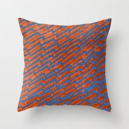 Zag [Blue/Orange] Throw Pillow