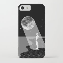 The moon knows me iPhone Case