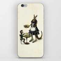 cafe iPhone & iPod Skins featuring Kangaroo cafe by Anna Shell