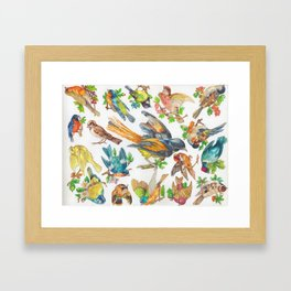 Birds, Birds, Birds Framed Art Print