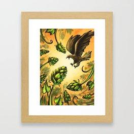 Screaming Eagle and Raging Hops (Warm) Framed Art Print