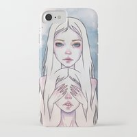 twins iPhone & iPod Cases featuring Twins by Black Fury