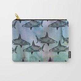 HammerHead Pattern 3 - Watercolor Variant Carry-All Pouch