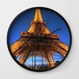 Eiffel Tower Paris art, blue sky, night,sunset in Paris, French Wall Clock