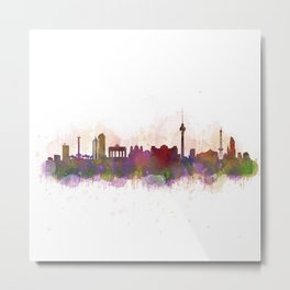 Berlin City Skyline HQ1 Metal Print