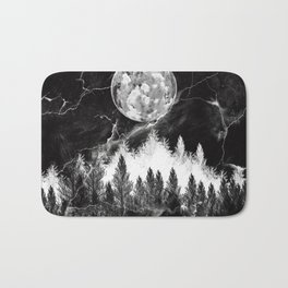 marble black and white landscape Bath Mat