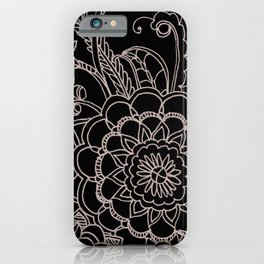 Paisley Drawing in Black and White iPhone Case