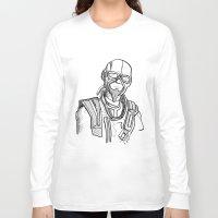borderlands Long Sleeve T-shirts featuring borderlands mordecai by  Steve Wade ( Swade)