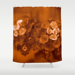 Lantana Sepia Shower Curtain
