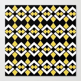 Zig Zag Pattern Yellow Canvas Print