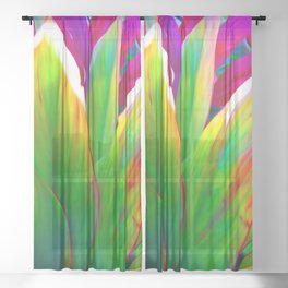 Sacred Ti Leaf Sheer Curtain