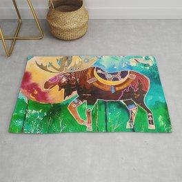 Fantastic Moose - Animal - by LiliFlore Rug