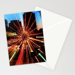 Abstract Long Beach CA Lights Stationery Cards