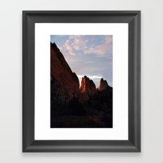 Sunrise at Garden of the Gods -II Framed Art Print
