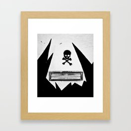 Skull Mail Framed Art Print