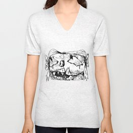 Weird Girl Head Unisex V-Neck