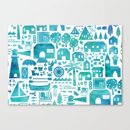 in the Spanish South coast Canvas Print
