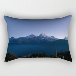 Dawn on Annapurna Rectangular Pillow