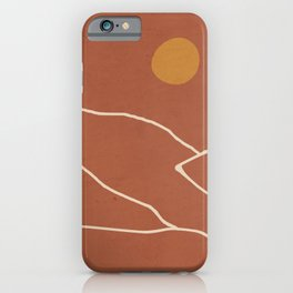 Minimal Abstract Art Landscape 2 iPhone Case