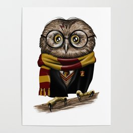 Owly Wizard Poster