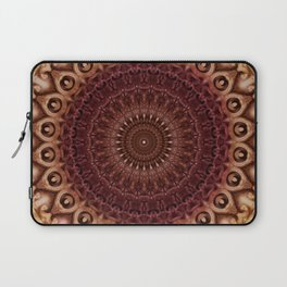 Mandala in brown and red tones Laptop Sleeve