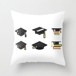 Academic Cap Throw Pillow