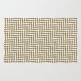 Grey Beige Houndstooth Pattern Rug