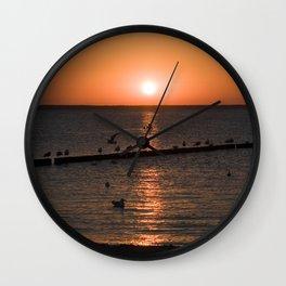 Summersunset at the Beach - Isle Ruegen Wall Clock