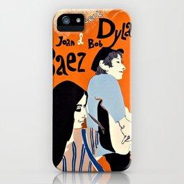 Vintage 1965 Bob Dylan in Concert Poster iPhone Case