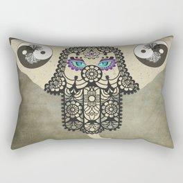 Elephant Hamsa Tree Ying Yang A403 Rectangular Pillow