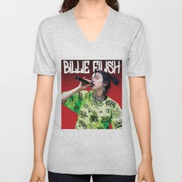 billie live tour 2021 Unisex V-Neck