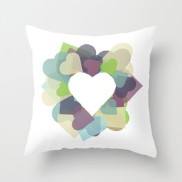 HEART HEART Throw Pillow