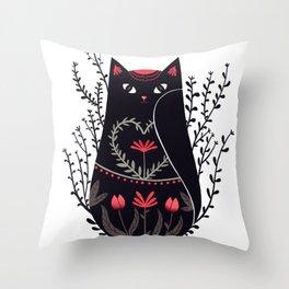 Russian kitty Throw Pillow