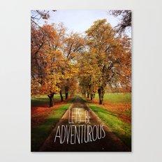 let's be adventurous Canvas Print