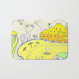 Lemon paradise Bath Mat