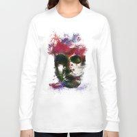 no face Long Sleeve T-shirts featuring Face by Marian - Claudiu Bortan