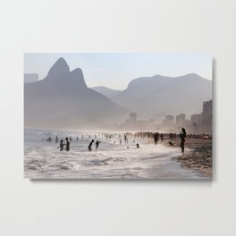 Ipanema beach, Rio, Brazil Metal Print