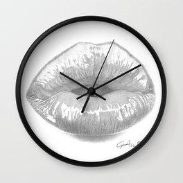 Affetto / Affection - Kiss Lips - Mouth Wall Clock