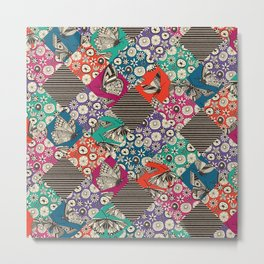 retro summer patches Metal Print