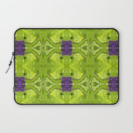 Acrylic Pour Pattern (Green/Purple) Laptop Sleeve